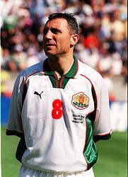 HRISTO STOITCHKOV.BULGARIA WORLD CUP 1998 FRANCE.NIGERIA V BULGARIA 19/06/98 WORLD CUP 1998.