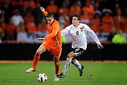 09-02-2011 VOETBAL: NEDERLAND - OOSTENRIJK: EINDHOVEN<br /> Netherlands in a friendly match with Austria won 3-1 / Ibrahim Afellay NED, Zlatko Junuzovic AUT<br /> ©2011-WWW.FOTOHOOGENDOORN.NL