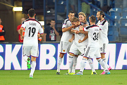 29.07.2015, INEA Stadion, Poznan, POL, UEFA CL, Lech Poznan vs FC Basel, Qualifikation, 3. Runde, Hinspiel, im Bild (S) MICHAEL LANG RADOSC BRAMKA GOL // during the UEFA Champions League Qualifier, third round, first Leg match between Lech Posen and FC Basel at the INEA Stadion in Poznan, Poland on 2015/07/29. EXPA Pictures © 2015, PhotoCredit: EXPA/ Newspix/ Wojciech Klepka<br /> <br /> *****ATTENTION - for AUT, SLO, CRO, SRB, BIH, MAZ, TUR, SUI, SWE only*****