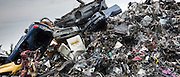 Metal recycling of scrap metal, cars and autos to avoid environmental pollution in England