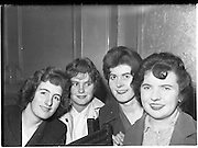 12/11/1959<br /> 11/12/1959<br /> 12 November 1959<br /> Formation of Dublin Branch of West Cork Development Association at Jury's Hotel, Dublin. Picture shows four Skibereen ladies who attended the meeting (l-r): Chrissie Cadogan; Eily Shanahan; Maura Keating and Mary Daly.