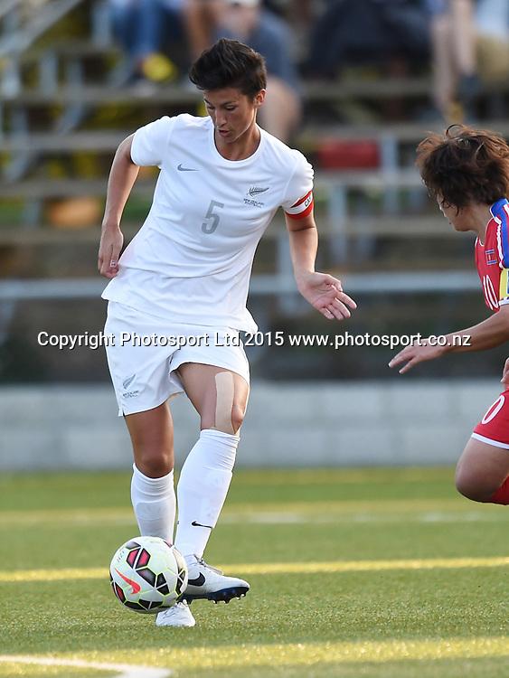 New Zealand's Abby Erceg. Womens Football. New Zealand Football Ferns v Korea DPR. Auckland, New Zealand. Sunday 8 February 2015. Copyright Photo: Andrew Cornaga / www. Photosport.co.nz