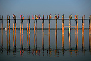 U mein bridge made of teak, Mandalay
