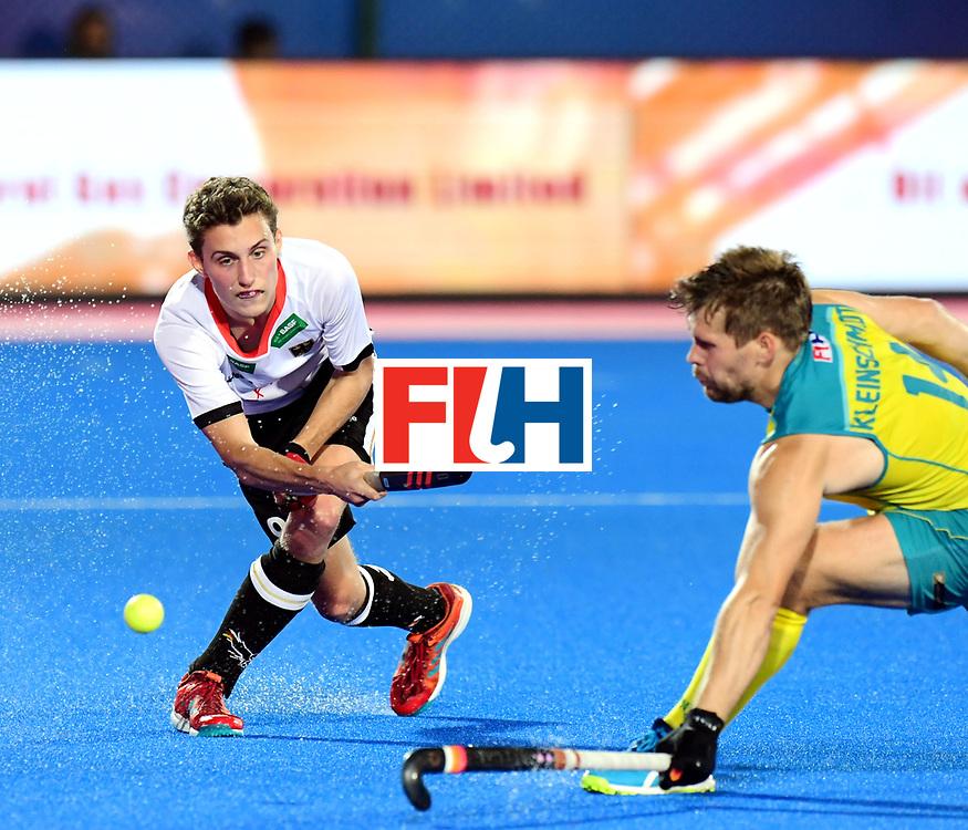Odisha Men's Hockey World League Final Bhubaneswar 2017<br /> Match id:20<br /> Australia v Germany<br /> Foto: Johannes Grosse (Ger) and Aaron Kleinschmidt (Aus) <br /> COPYRIGHT WORLDSPORTPICS FRANK UIJLENBROEK