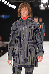 """© Licensed to London News Pictures. 02/06/2015. London, UK. Collection by Megan Kimmance, UCLAN, University of Central Lancashire. Runway show """"Best of Graduate Fashion Week 2015"""". Graduate Fashion Week takes place from 30 May to 2 June 2015 at the Old Truman Brewery, Brick Lane. Photo credit : Bettina Strenske/LNP"""