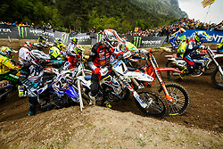 during MXGP Trentino race two, round 5 for MXGP Championship in Pietramurata, Italy on 16th of April, 2017 in Italy. Photo by Grega Valancic / Sportida
