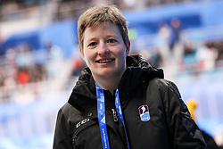 GANGNEUNG, SOUTH KOREA - FEBRUARY 17: Natasa Pagon, Slovenian referee during the ice hockey match between Slovenia and Slovakia in  the Preliminary Round on day eight of the PyeongChang 2018 Winter Olympic Games at Kwangdong Hockey Centre on February 17, 2018 in Gangneung, South Korea. Photo by Kim Jong-man / Sportida