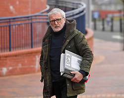 Pictured: Ian O'Prey, father of victim Mark O'Prey, arrives at the inquiry.<br /> <br /> The long awaited Fatal Accident Inquiry into the 2013 accident, where a police helicopter crashed into the Clutha Bar in Glasgow, killing all three helicopter crew and seven customers in the bar, opened at Hamden Park in front of Sheriff Principal Craig Turnbull.<br /> <br /> © Dave Johnston / EEm