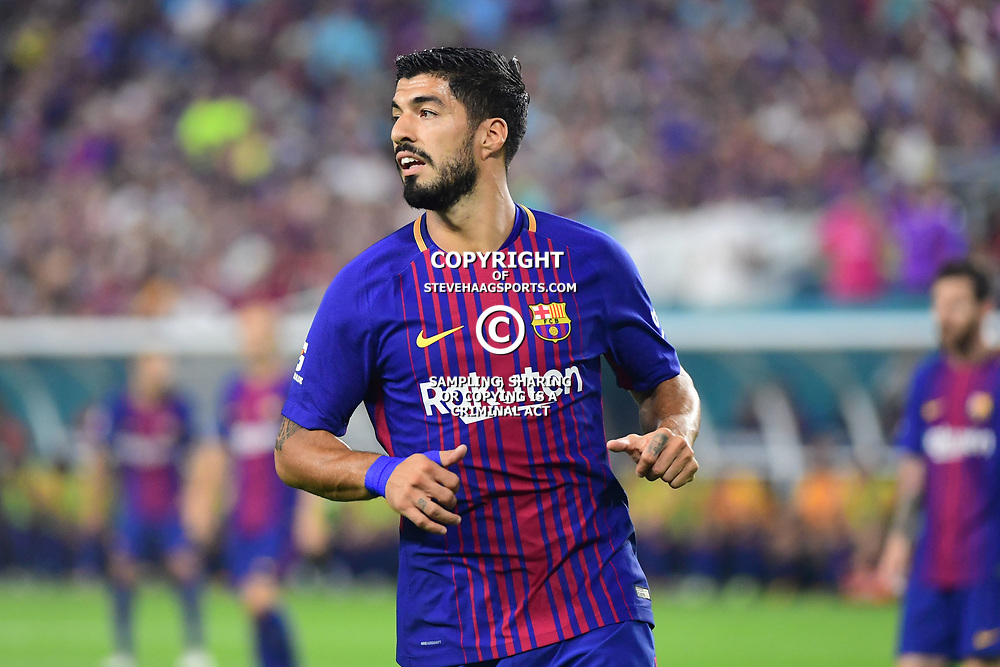 Luis Suarez of Barcelona during the International Champions Cup match between Barcelona and Real Madrid at Hard Rock Stadium on July 29, 2017 in Miami Gardens, Florida. (Photo by Dave Winter/Icon Sport)