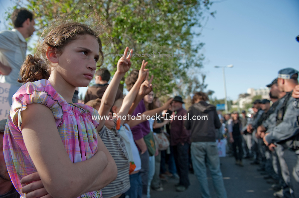 Israel, East Jerusalem, Sheikh Jarrah An anti-Israeli demonstration protesting Jewish settlements in this predominately Arab neighbourhood