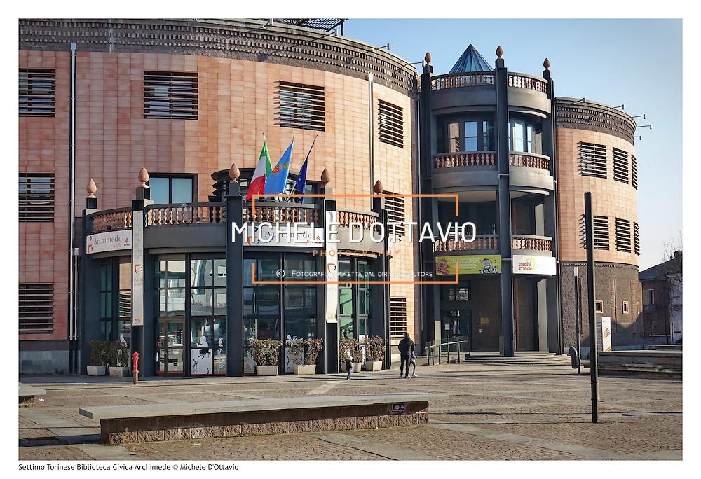 Settimo Torinese Biblioteca Civica Archimede in piazza Campidoglio