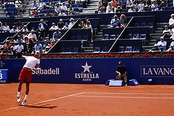 April 25, 2018 - Barcelona, Barcelona, Spain - 25th April 2018. Barcelona, Spain; Banc Sabadell Barcelona Open Tennis tournament; Novak Djokovic during the Barcelona Open Banc Sabadell 66¼ Trofeo Conde de Godo (Credit Image: © Eric Alonso via ZUMA Wire)