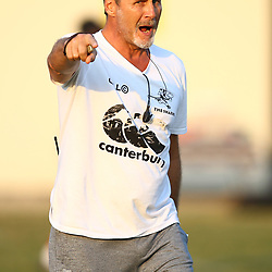 Robert du Preez (Head Coach) of the Cell C Sharks during the Cell C Sharks training, Jonsson Kings Park Stadium,Durban South Africa.27,06,2018 Photo by (Steve Haag REX Shutterstock )