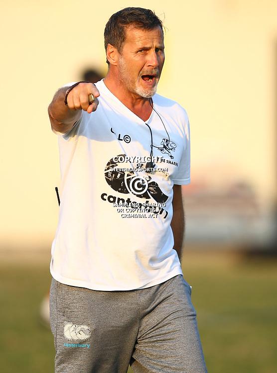 Robert du Preez (Head Coach) of the Cell C Sharks during the Cell C Sharks training, Jonsson Kings Park Stadium,Durban South Africa.27,06,2018 Photo by (Steve Haag REX Shutterstock )
