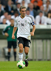 06.09.2013, Allianz Arena, Muenchen, GER, FIFA WM Qualifikation, Deutschland vs Oesterreich, Rueckspiel, im Bild Philipp Lahm (GER) am Ball Freisteller, Einzelbild, Aktion, , , Qualifikation Weltmeisterschaft Brasilien 2014 Rueckspiel , Saison 2013 2014 Muenchen Allianz-Arena, 06.09.2013 // during the FIFA World Cup Qualifier second leg Match between Germany and Austria at the Allianz Arena, Munich, Germany on 2013/09/06. EXPA Pictures © 2013, PhotoCredit: EXPA/ Eibner/ Michael Weber<br /> <br /> ***** ATTENTION - OUT OF GER *****