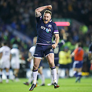 Stuart Hogg of Scotland reacts at the final whistle of the Six Nations Round 3 rugby match between Scotland and England at Murrayfield Stadium, in Edinburgh, Britain, 24 February 2018. EPA-EFE/ROBERT PERRY