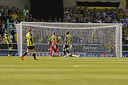 Coventry City forward Marcus Tudgay equalises for Coventry City during the Sky Bet League 1 match between Burton Albion and Coventry City at the Pirelli Stadium, Burton upon Trent, England on 6 September 2015. Photo by Simon Davies.