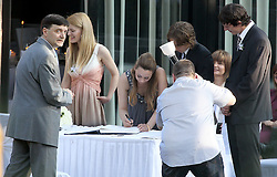 12.05.2010, Zagreb, CRO, Luka Modric, footballer who plays for Tottenham Hotspur, married his pregnant girlfriend Vanja Bosnic in a secret wedding ceremony at the restaurant Okrugljak in front of marriage registrar, family and closest friends. .Foto nph / Dalibor / SPORTIDA PHOTO AGENCY