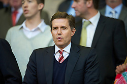 LIVERPOOL, ENGLAND - Monday, April 19, 2010: Liverpool's managing director Christian Purslow sees his side take on West Ham United during the Premiership match at Anfield. (Photo by: David Rawcliffe/Propaganda)