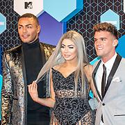 NLD/Rotterdam/20161106 - MTV EMA's 2016, cast Geordie Shore, Gary, Chloe, Nathan