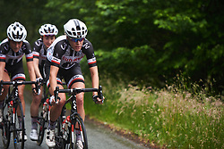Ellen van Dijk (NED) sets the pace of the lead group at OVO Energy Women's Tour 2018 - Stage 5, a 122 km road race from Dolgellau to Colwyn Bay, United Kingdom on June 17, 2018. Photo by Sean Robinson/velofocus.com