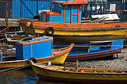 Boats on Chiloe Island, Chile