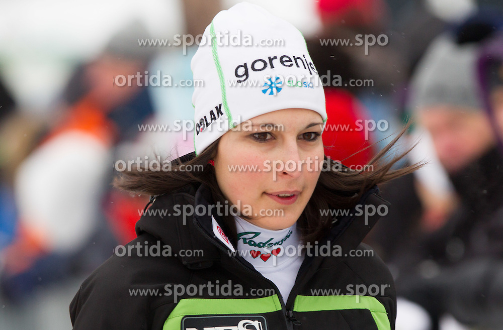 Anja Tepes of Slovenia during Normal Hill Individual Competition at FIS World Cup Ski jumping Ladies Ljubno 2012, on February 11, 2012 in Ljubno ob Savinji, Slovenia. (Photo By Vid Ponikvar / Sportida.com)
