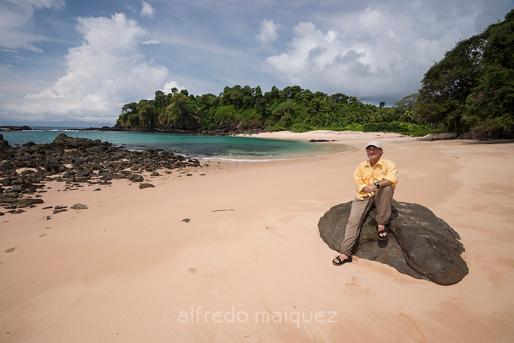 Pacific Ocean beach at low tide, Las Perlas archipelago,Panama,Central America