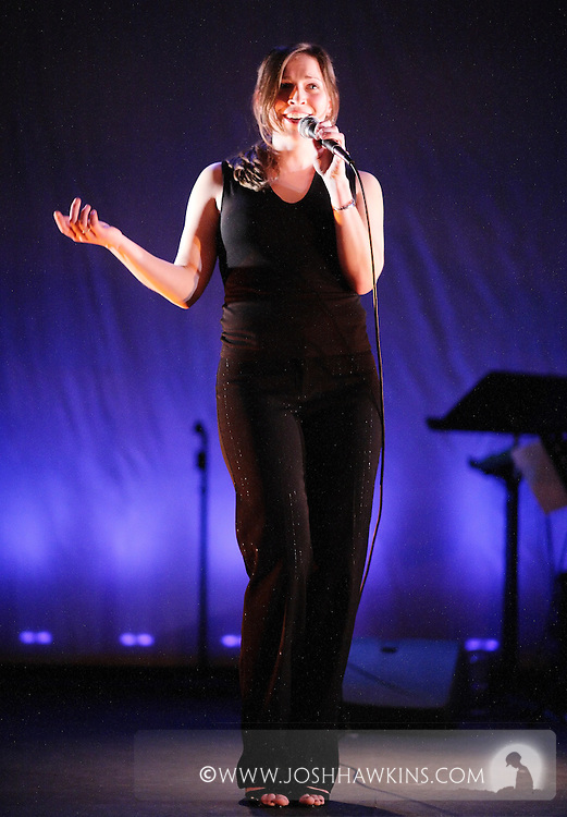 Leslie Beukelman singing at Chicago Tap Theatre's production of .