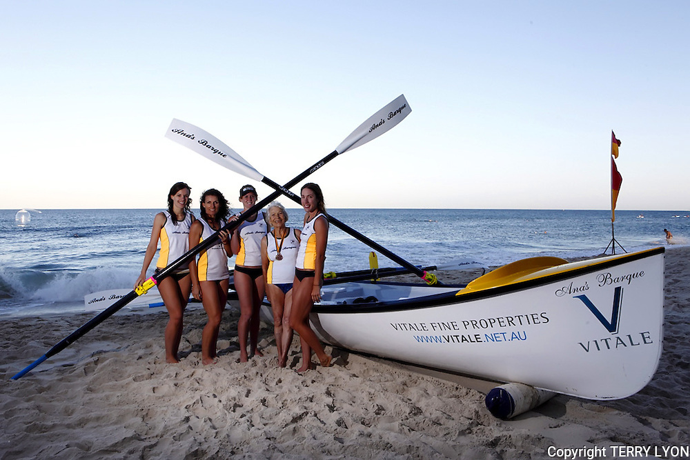 Ana's Barque surf boat launch Cottesloe Beach