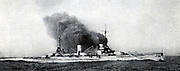 German battlecruiser 'Moltke' built 1909-1911. She was part of the Imperial  German High Seas Fleet and was present at the Battle of Jutland, 31 May 1916. Scuttled at Scapa Flow, 21 May 1919, to prevent her falling into Allied hands.