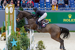 KRAUT Laura (USA), Deauville S<br /> Genf - CHI Geneve Rolex Grand Slam 2019<br /> Prix des Vins de Genève<br /> Internationales Springen Fehler/Zeit<br /> International Jumping Competition 1m45<br /> Table A: Against the Clock<br /> 12. Dezember 2019<br /> © www.sportfotos-lafrentz.de/Stefan Lafrentz