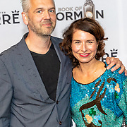 NLD/Amsterdam//20191003 - Première The Book of Mormda,. ,Sandra Mattie en partner