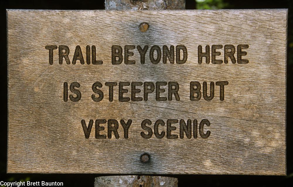Trail Sign, Mt. Baker National Forest