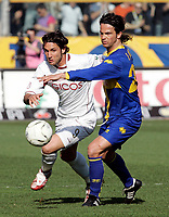 "Rolando Bianchi (Reggina), Fernando Couto (Parma)<br /> Italian ""Serie A"" 2006-07<br /> 04 Mar 2007 (Match Day 27)<br /> Parma-Reggina (2-2)<br /> ""Ennio Tardini""-Stadium-Parma-Italy<br /> Photographer: Luca Pagliaricci INSIDE"