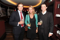 A party to promote the exclusive Puntacana Resort & Club - the Caribbean's Premier Golf & Beach Resort Destination, was held at The Groucho Club, 45 Dean Street London on 12th May 2010.<br /> <br /> Picture shows:-Left to right, HUGH MACONOCHIE, MARIELLA RYECART and JAMES WATTS
