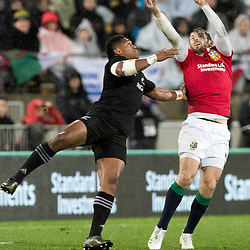 Waisake Naholo Elliot Daly during game 9 of the British and Irish Lions 2017 Tour of New Zealand, the second Test match between  The All Blacks and British and Irish Lions, Westpac Stadium, Wellington, Saturday 1st July 2017<br /> (Photo by Kevin Booth Steve Haag Sports)<br /> <br /> Images for social media must have consent from Steve Haag