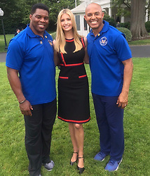 """Ivanka Trump releases a photo on Twitter with the following caption: """"""""Congratulations Mariano Rivera for becoming the first player ever unanimously elected into the Baseball Hall of Fame!  <br /> <br /> You continue to inspire the next generation of champions (and weekend warriors 😉) w/ your leadership on the President's Council on Fitness, Sports &amp; Nutrition"""""""". Photo Credit: Twitter *** No USA Distribution *** For Editorial Use Only *** Not to be Published in Books or Photo Books ***  Please note: Fees charged by the agency are for the agency's services only, and do not, nor are they intended to, convey to the user any ownership of Copyright or License in the material. The agency does not claim any ownership including but not limited to Copyright or License in the attached material. By publishing this material you expressly agree to indemnify and to hold the agency and its directors, shareholders and employees harmless from any loss, claims, damages, demands, expenses (including legal fees), or any causes of action or allegation against the agency arising out of or connected in any way with publication of the material."""