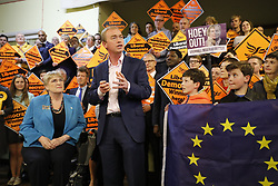 © Licensed to London News Pictures. 24/04/2017. London, UK. Liberal Democrat leader Tim Farron speaks at an election campaign event in Vauxhall, London on 24 April 2017. Photo credit: Tolga Akmen/LNP