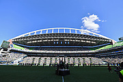 A general view of CenturyLink Field before the MLS soccer match between the LA Galaxy and the Seattle Sounders on Saturday, September 1, 2019, in Seattle, Washington. (Alika Jenner/Image of Sport via AP)