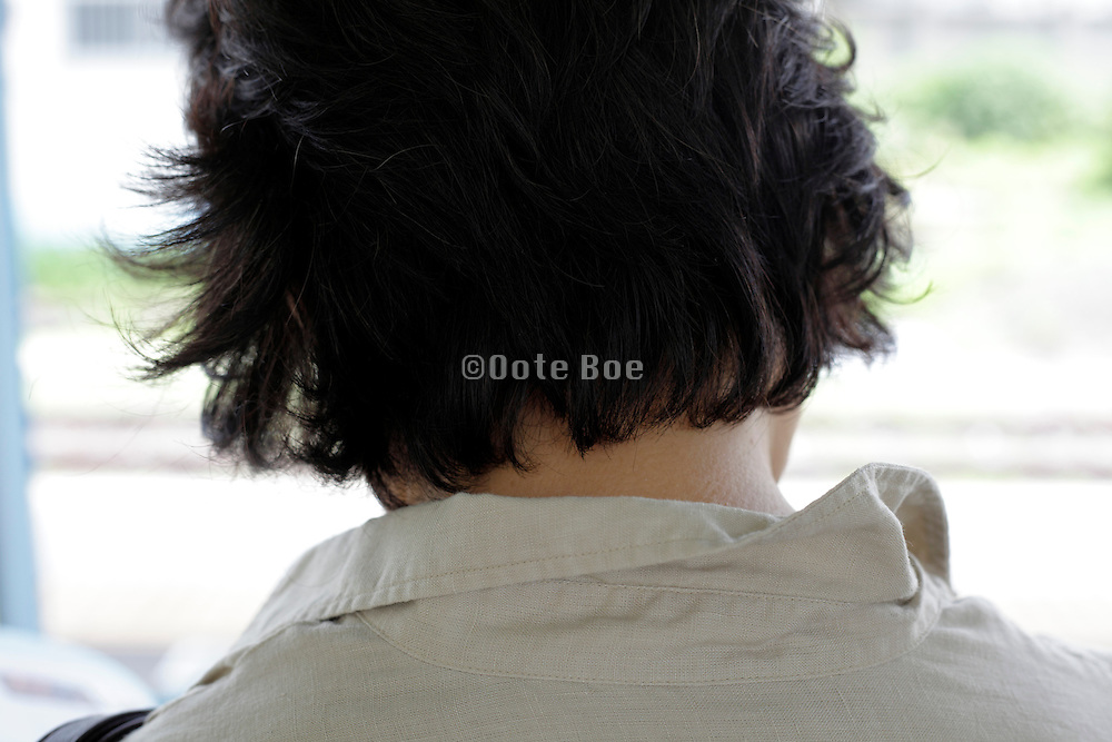 back view of female person head