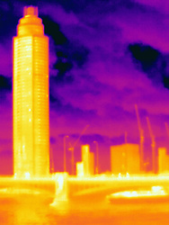 April 24, 2017 - Thermal photograph of skyscraper and Lambeth Bridge, London, UK (Credit Image: © Image Source via ZUMA Press)