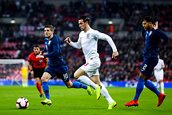 Ben Chilwell of England goes past DeAndre Yedlin of USA and Christian Pulisic of USA - Mandatory by-line: Robbie Stephenson/JMP - 15/11/2018 - FOOTBALL - Wembley Stadium - London, England - England v United States of America - International Friendly