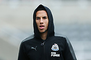 Isaac Hayden (#14) of Newcastle United arrives ahead of the Premier League match between Newcastle United and Swansea City at St. James's Park, Newcastle, England on 13 January 2018. Photo by Craig Doyle.