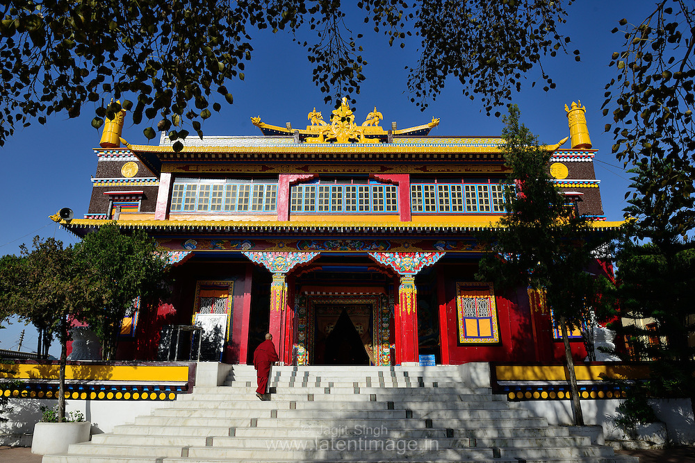 Tibetan YungDrung Bon Monastery at Dolanji. Founded by Lungtok Tenpai Nyima and Lopon Tenzin Namdak, it is also called the Menri Monastery situated in Solan district of Himachal Pradesh, India.