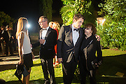 SANDRA BRANT; LUCA DINI; JAMES FRANCO; INGRID SICHY, Italian Vanity Fair's 10 Anniversary celebration  hosted by Luca Dini. . Fondazione Cini, Isola di San Giorgio. Venezia.  1 September 2013