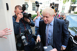 © Licensed to London News Pictures. 12/06/2019. London, UK. Boris Johnson arrives at the official launch event for his campaign to become Leader of the Conservative Party and the next Prime Minister. Photo credit: Rob Pinney/LNP