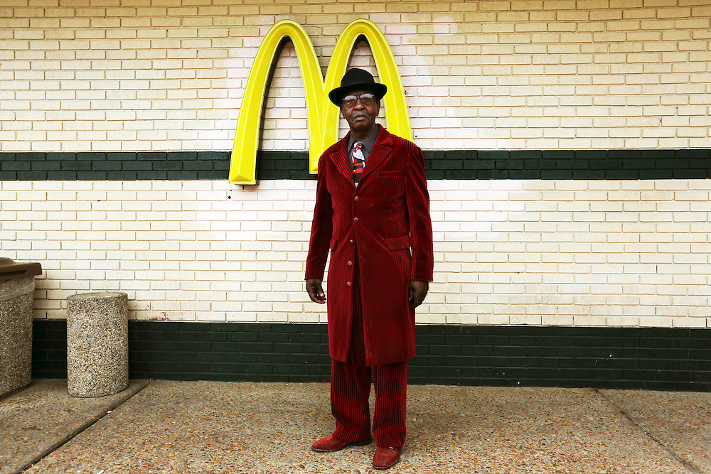 Cleo Saunders, age 69, after church. McDonald's. Charlottesville, Virginia USA. Sunday April 21, 2013