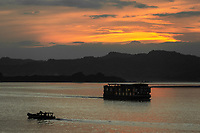 sunset on the Ayarwaddy River in Bagan Myanmar (Burma)