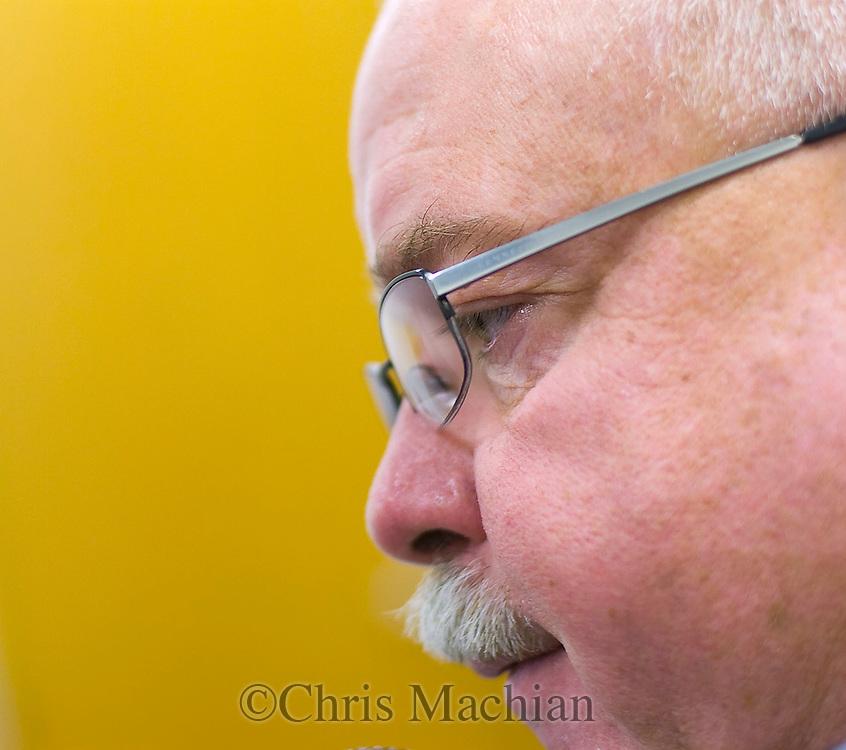 11/7/07 Smith Center, KS.Smith Center High School Head Coach Roger Barta..(Chris Machian/Prairie Pixel Group)